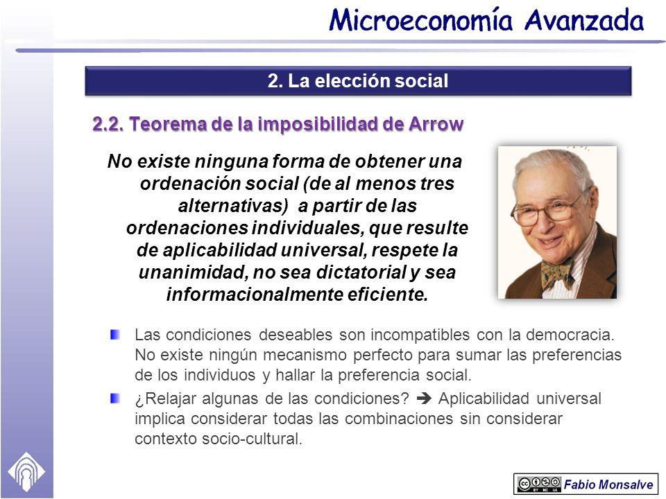 2.2. Teorema de la imposibilidad de Arrow