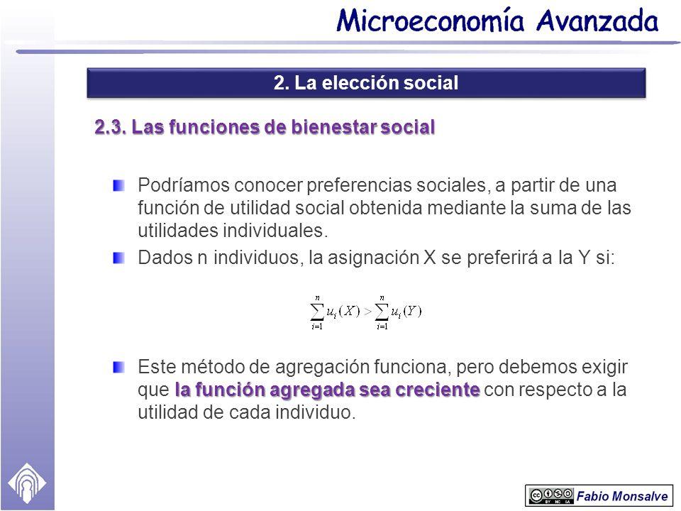 2.3. Las funciones de bienestar social