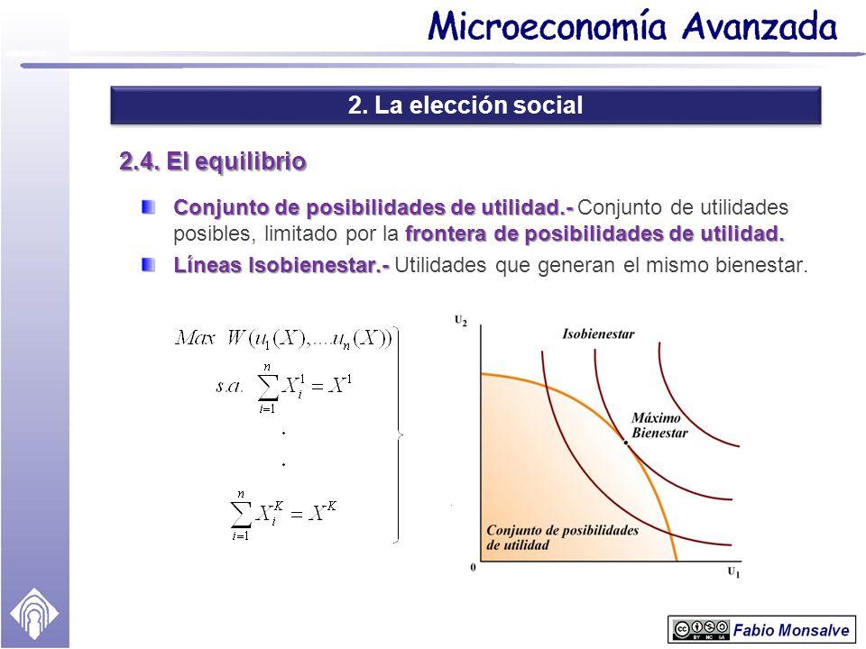 2. La elección social 2.4. El equilibrio
