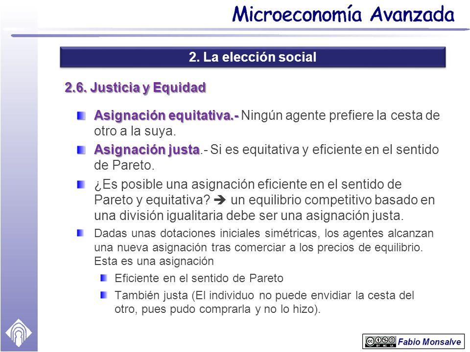 2. La elección social 2.6. Justicia y Equidad
