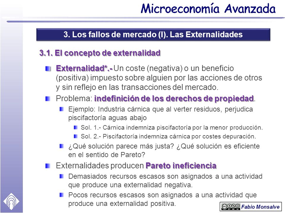 3.1. El concepto de externalidad