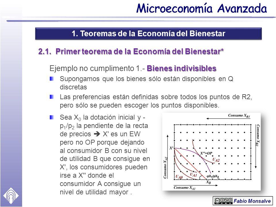 2.1. Primer teorema de la Economía del Bienestar*