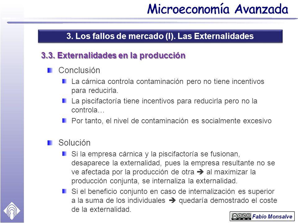 3.3. Externalidades en la producción