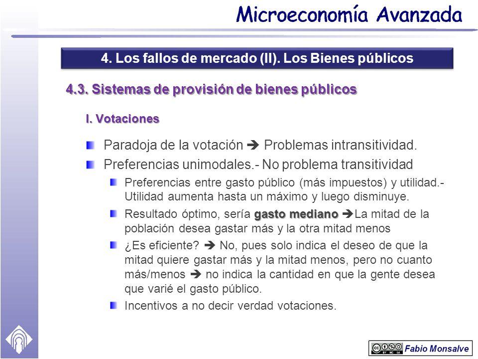 4.3. Sistemas de provisión de bienes públicos