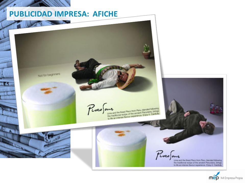 PUBLICIDAD IMPRESA: AFICHE