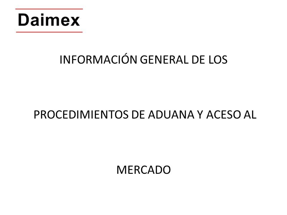 INFORMACIÓN GENERAL DE LOS