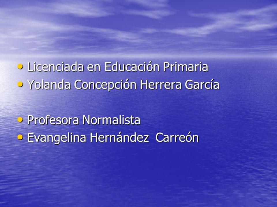 Licenciada en Educación Primaria