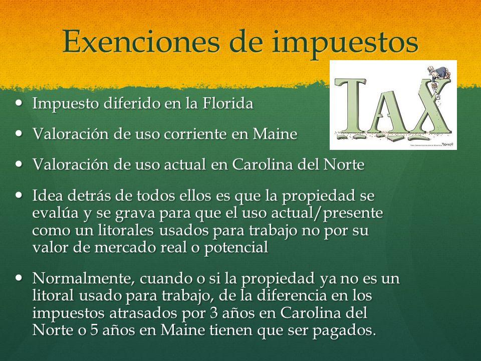 Exenciones de impuestos