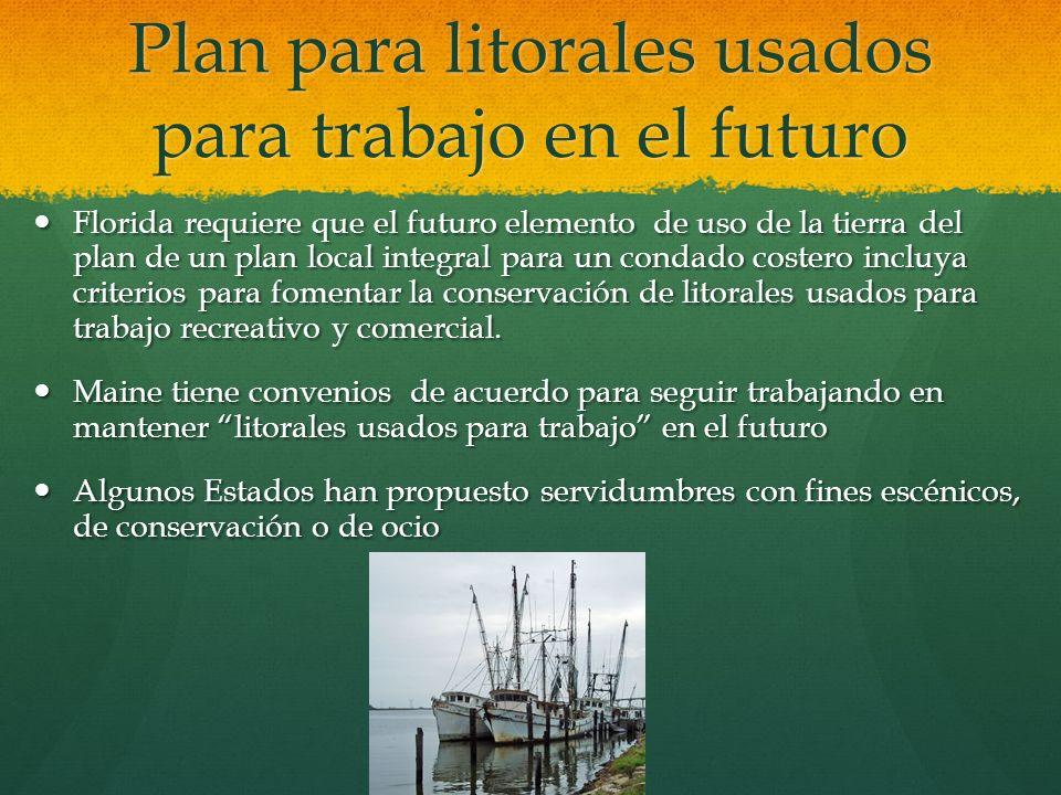 Plan para litorales usados para trabajo en el futuro
