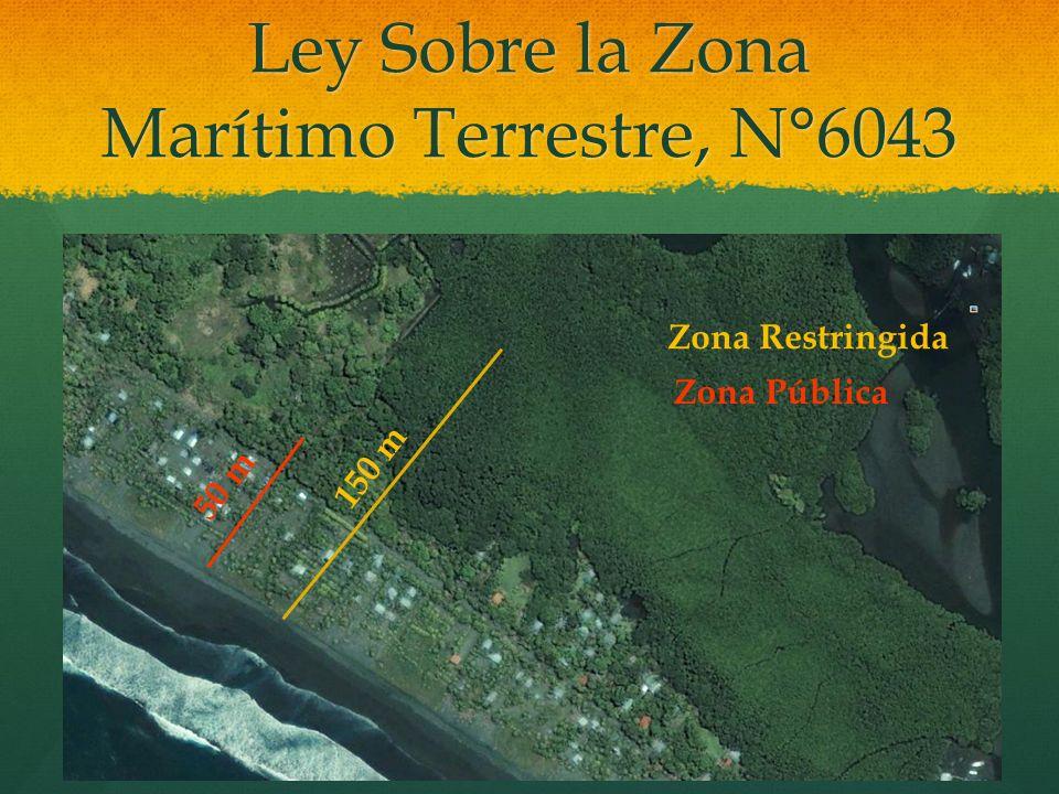 Ley Sobre la Zona Marítimo Terrestre, N°6043