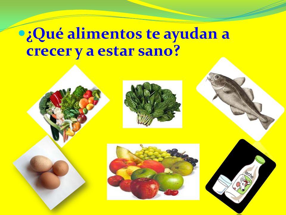 ¿Qué alimentos te ayudan a crecer y a estar sano