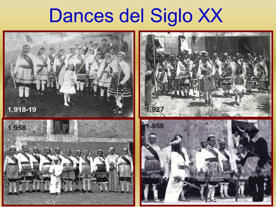 Dances del Siglo XX 1.918-19 1.927 1.958 1.958