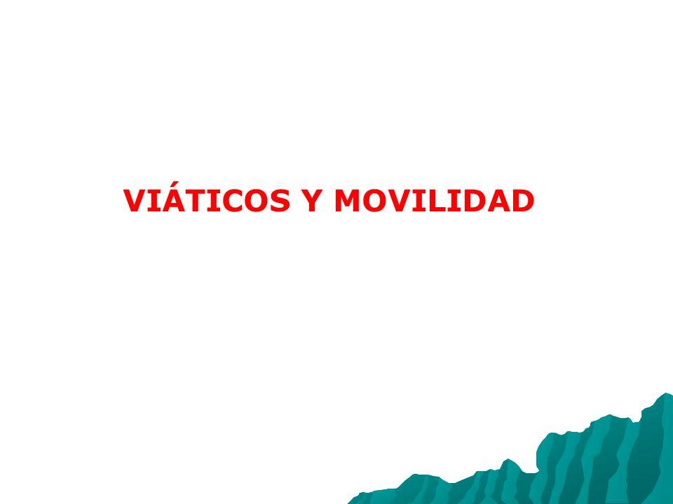 VIÁTICOS Y MOVILIDAD