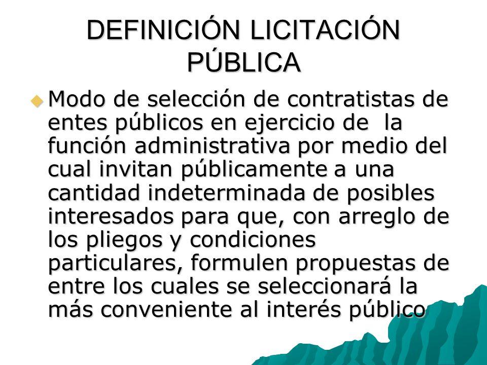 DEFINICIÓN LICITACIÓN PÚBLICA