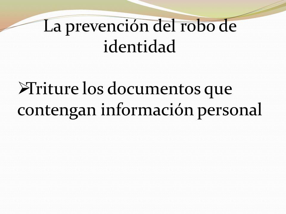 La prevención del robo de identidad