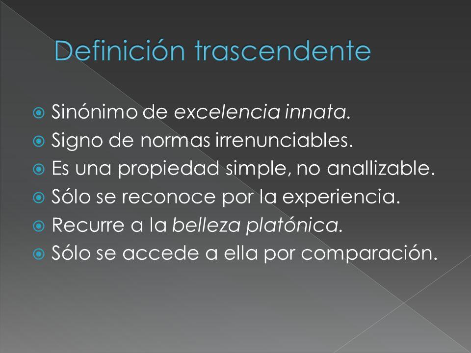 Definición trascendente