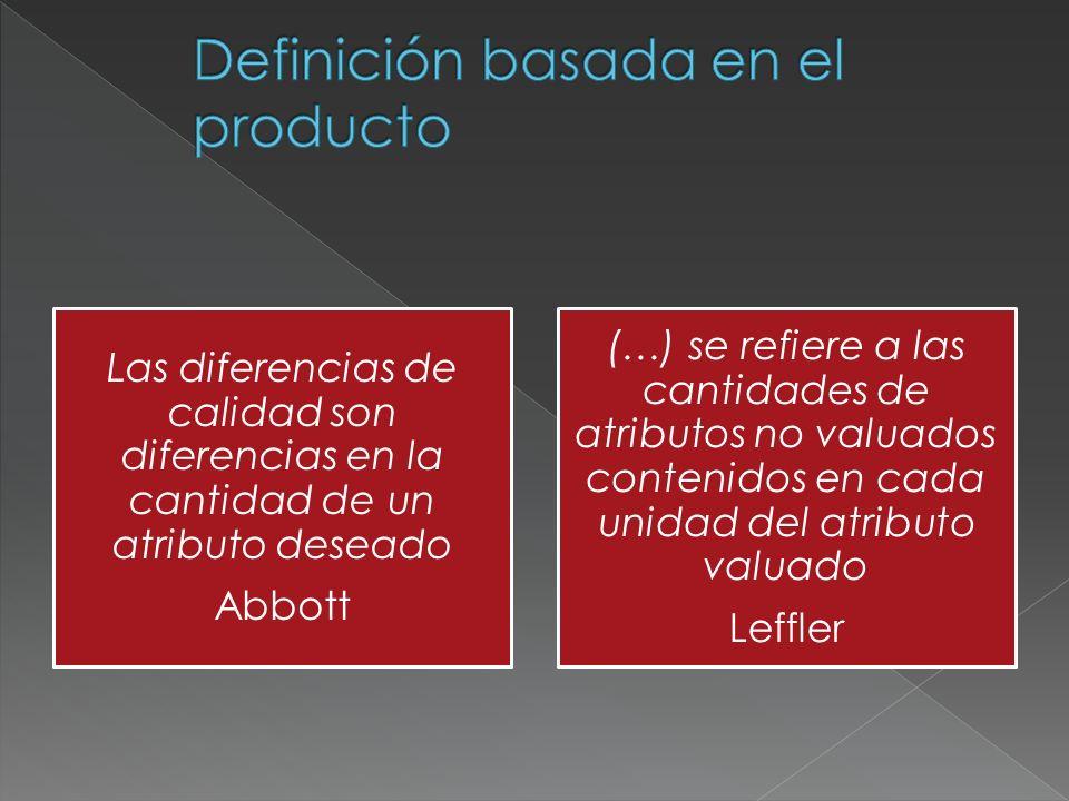 Definición basada en el producto