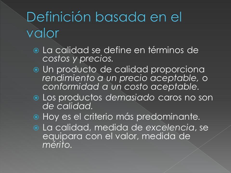 Definición basada en el valor