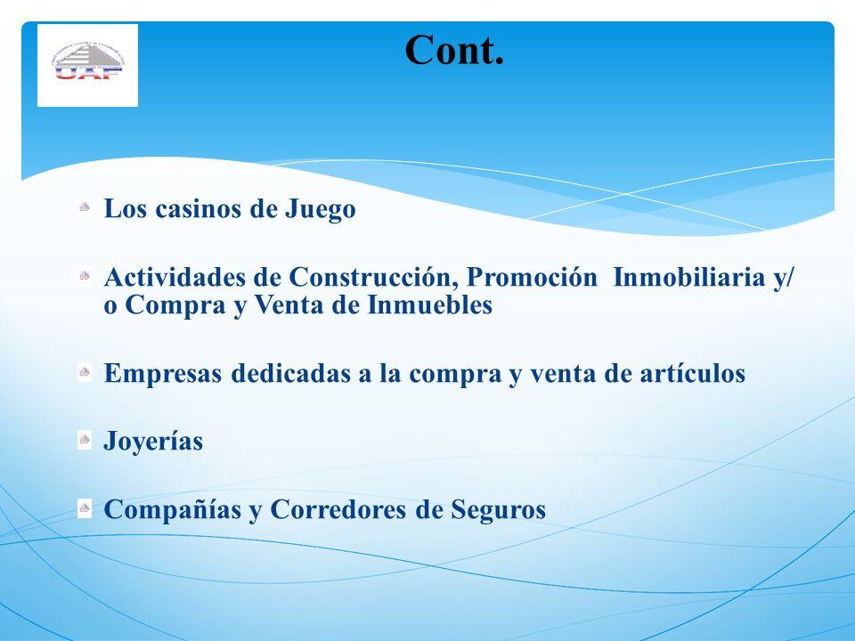 Cont. Los casinos de Juego