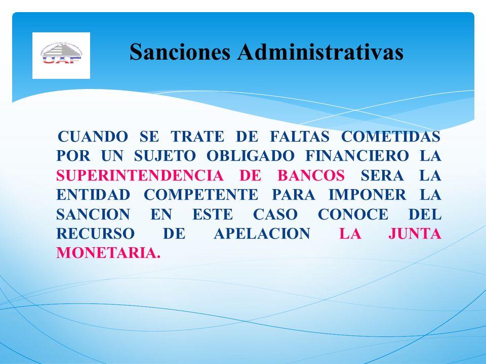 Sanciones Administrativas