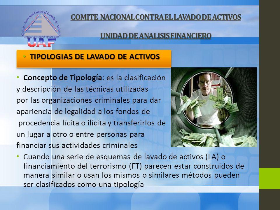 TIPOLOGIAS DE LAVADO DE ACTIVOS