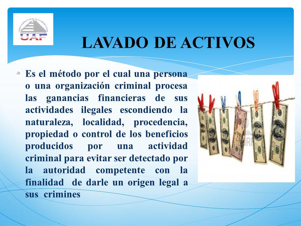 LAVADO DE ACTIVOS
