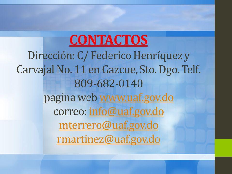 CONTACTOS Dirección: C/ Federico Henríquez y Carvajal No