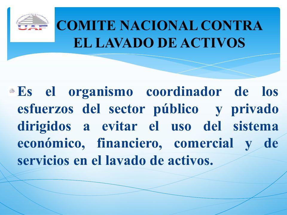 COMITE NACIONAL CONTRA EL LAVADO DE ACTIVOS