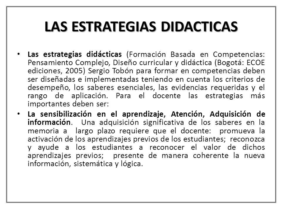 LAS ESTRATEGIAS DIDACTICAS