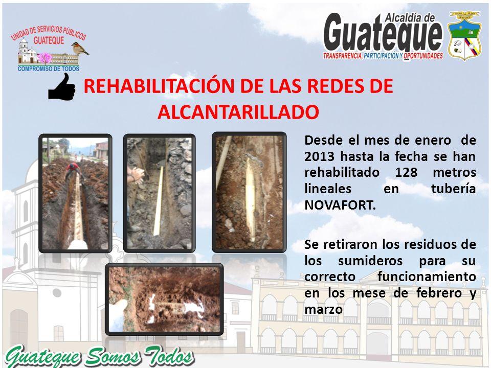 REHABILITACIÓN DE LAS REDES DE ALCANTARILLADO