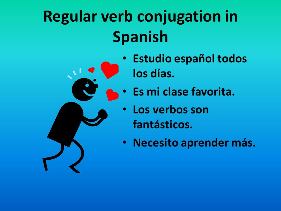 Regular verb conjugation in Spanish