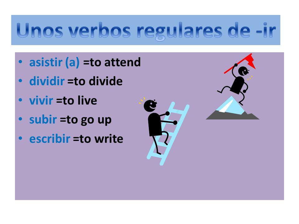 Unos verbos regulares de -ir