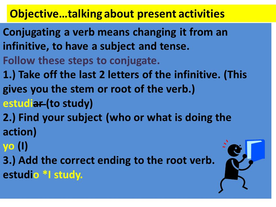 Objective…talking about present activities