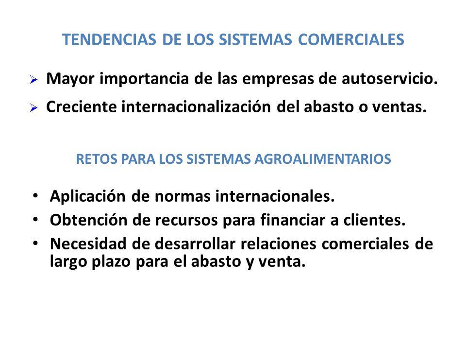 TENDENCIAS DE LOS SISTEMAS COMERCIALES
