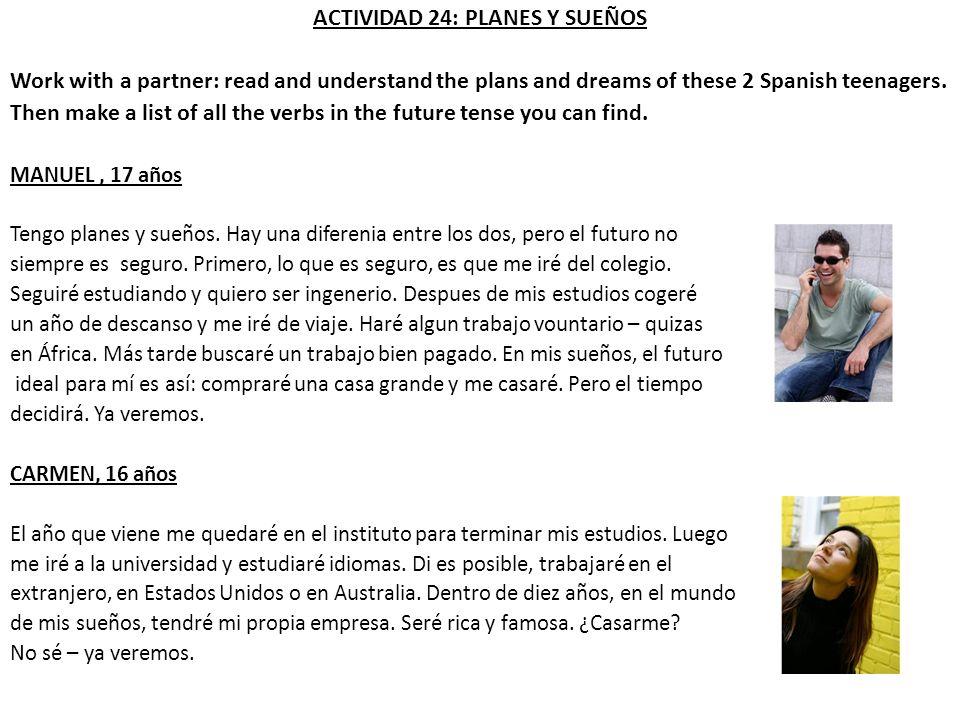 ACTIVIDAD 24: PLANES Y SUEÑOS