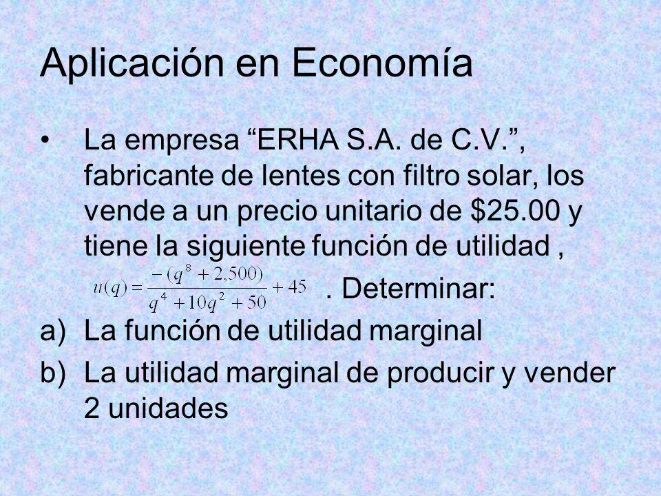 Aplicación en Economía