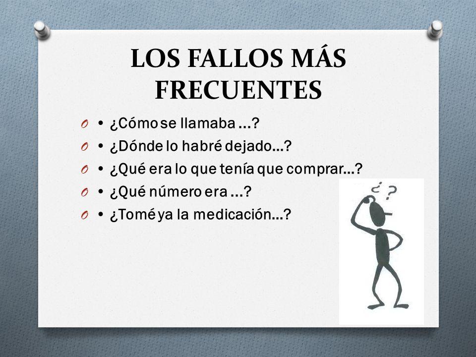 LOS FALLOS MÁS FRECUENTES