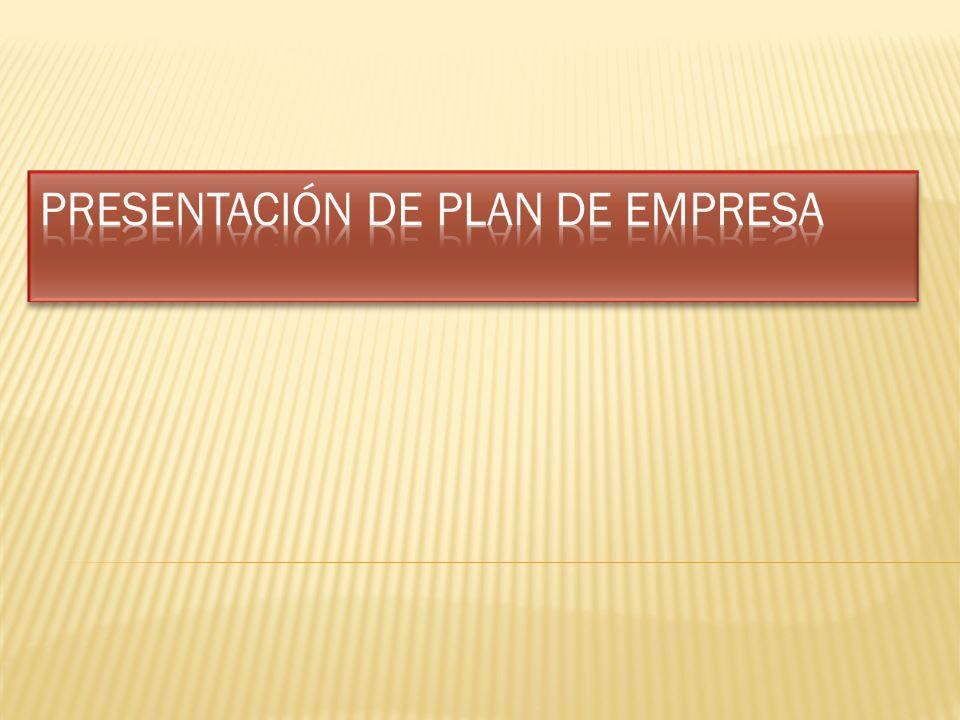 Presentación de plan de empresa