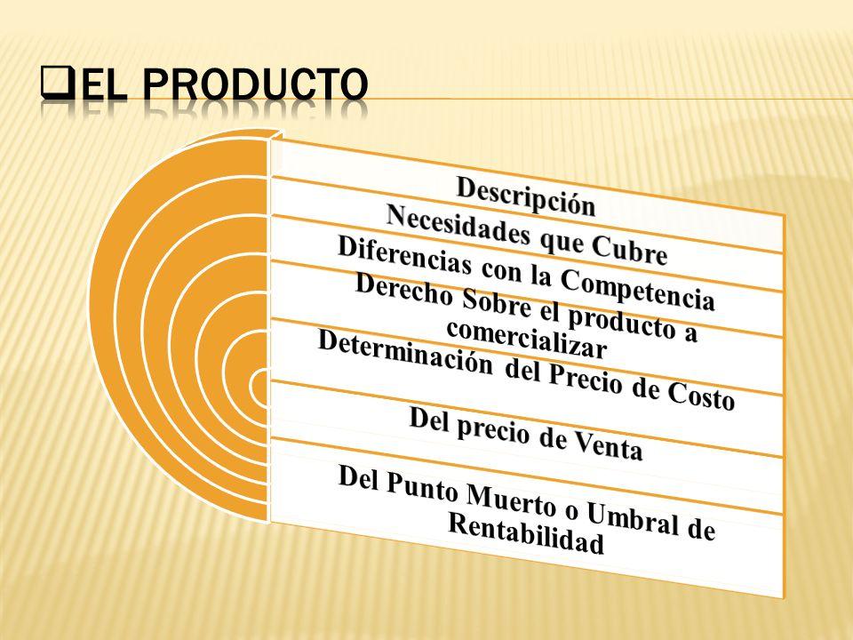 El Producto Descripción Necesidades que Cubre
