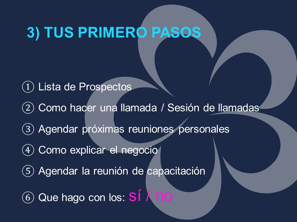 3) TUS PRIMERO PASOS Lista de Prospectos