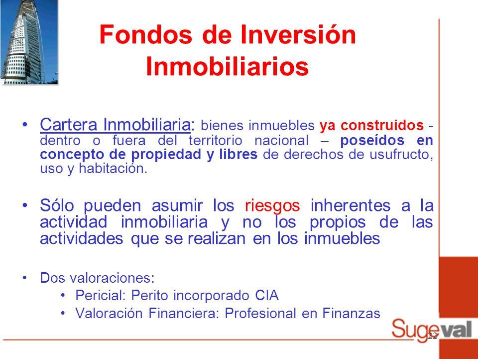 Fondos de Inversión Inmobiliarios