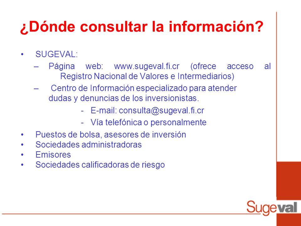 ¿Dónde consultar la información