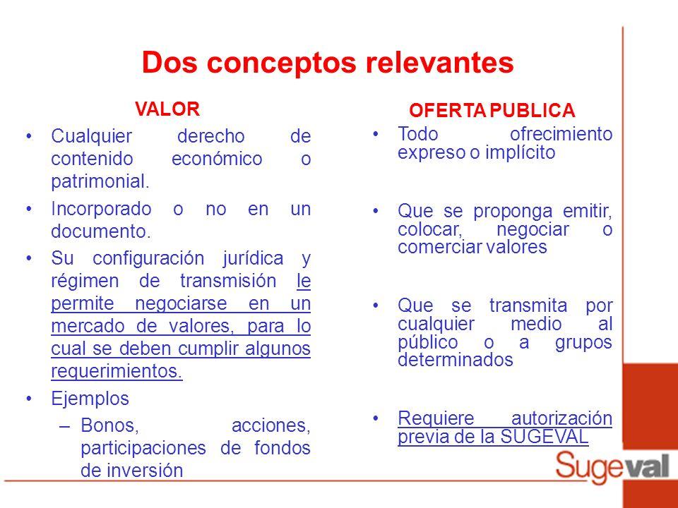 Dos conceptos relevantes