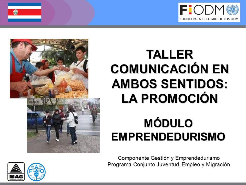 COMUNICACIÓN EN AMBOS SENTIDOS: LA PROMOCIÓN