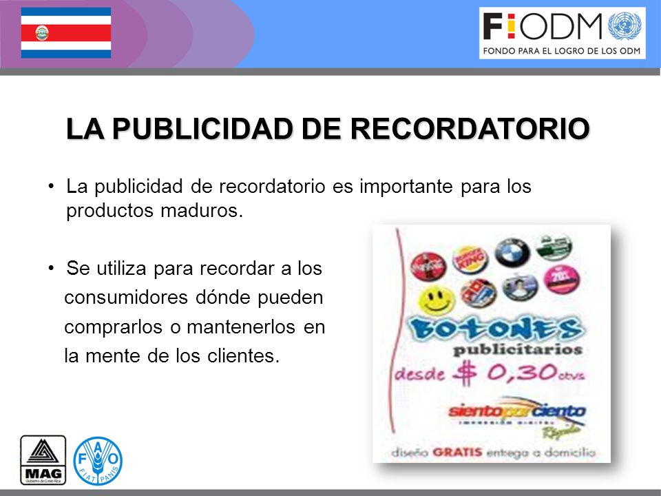 LA PUBLICIDAD DE RECORDATORIO