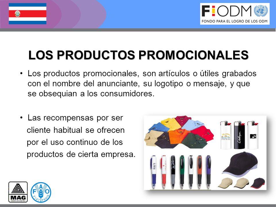 LOS PRODUCTOS PROMOCIONALES