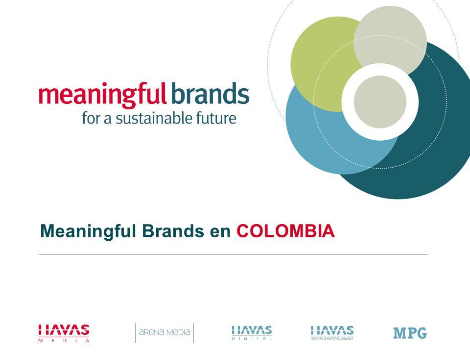 Meaningful Brands en COLOMBIA