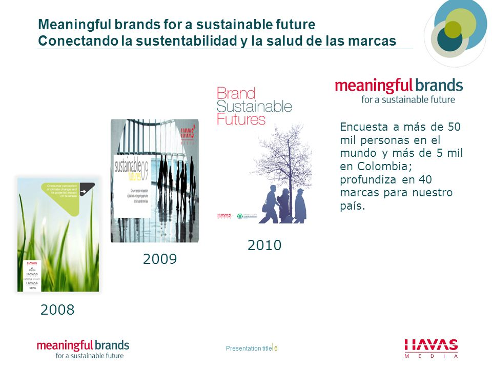 Meaningful brands for a sustainable future Conectando la sustentabilidad y la salud de las marcas