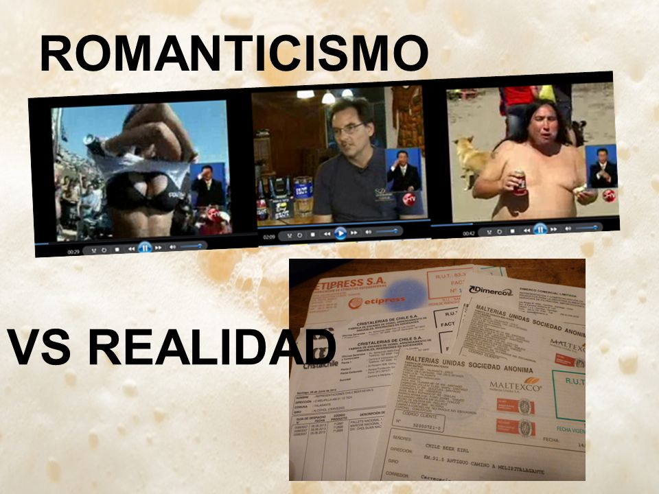 ROMANTICISMO VS REALIDAD