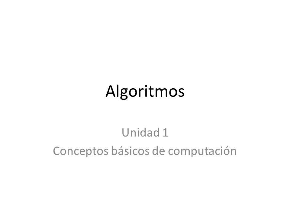 Unidad 1 Conceptos básicos de computación